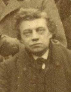 Portret van de kunstenaar Leonardus Willebrordus Derop (1839-1872)