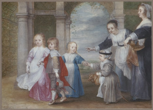 Familieportret van Peter Paul Rubens (1577-1640) en HélèneFourment (1614-1673) met vier kinderen