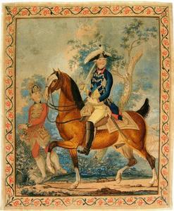 Ruiterportret van stadhouder Willem V (1748-1806)