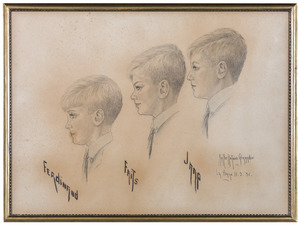 Portret van de kinderen van Jhr Constantijn Leopold Carel van Kretschmar (1891-1967)