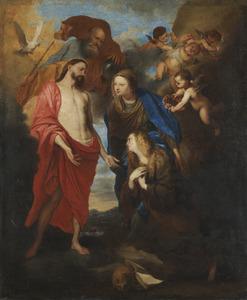De H. Maagd stelt Maria Magdalena voor aan de H. Drieëenheid