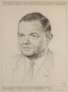 Portret van Hendrik Karel Jan Beernink (1910-1979)