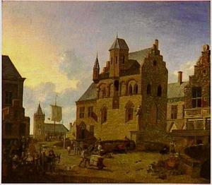 Een marktplaats (in Steenbergen?)
