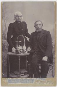 Portret van Trijntje Zwart (1850/1851-1911) en Symon Terpstra (1847-1915)