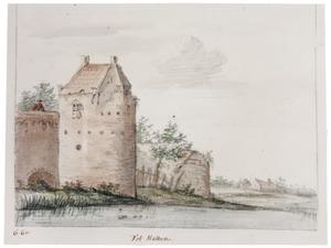 Hattem, de stadsmuur met een toren