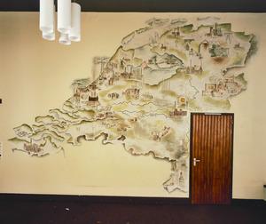 Landkaart van Nederland met electriciteitscentrales