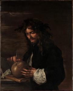 Zelfportret van Salvator Rosa (1615-1673)