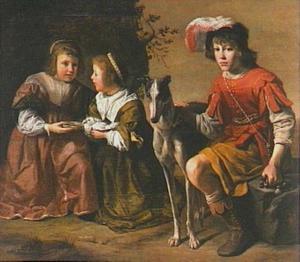 Portret van drie kinderen uit de d'Arenberg familie