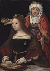De H. Elisabeth van Hongarije met stichtster