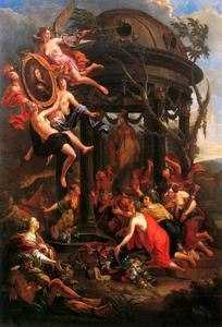 Allegorische huldiging van Maximiliaan Emanuel van Beieren (1662-1726)