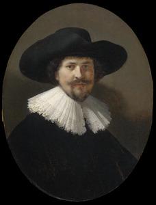 Portret van een man met een breed-gerande hoed