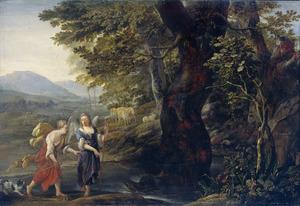 Op aanwijzing van de engel  vangt Tobias de grote vis (Tobias 6)