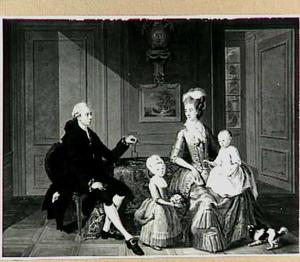 Portretgroep van een juweliersfamilie