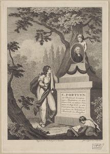 Monument met portret van Cornelis Fortuyn (1752-1828)