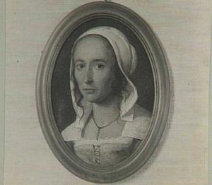 Portret van een vrouw, mogelijk een zelfportret van Anna Maria van Schurman (1607-1678)