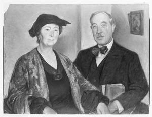 Portret van Jeanne Henriette Hijmans (1873-1941) en Willem Vogelsang (1875-1954)