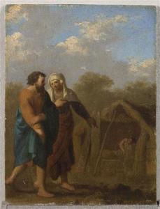Sara leidt Abraham naar Hagar