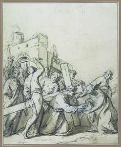 De val onder het kruis met H. Veronica