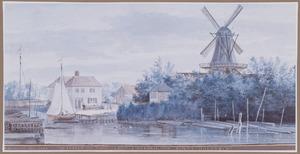 De windmolen De Hoop aan de Noordendijk buiten Dordrecht