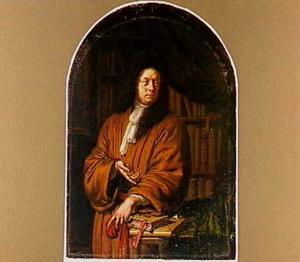 Portret van Lucas van Rijp (1647-1716), rector van de Latijnse school in Leiden