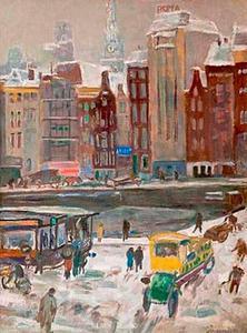 Het Rokin te Amsterdam, gezien vanuit Arti et Amicitiae