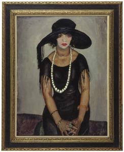 Portret van Tonia Stieltjes (1881-1932)