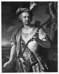 Portret van een onbekende man als Apollo Helios