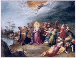 Het martelaarschap van de H. Ursula en de tienduizend maagden te Keulen