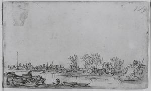 De doorbraak van de Sint-Anthonis- of Diemerdijk bij Houtewael in 1651