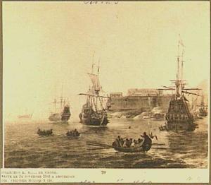 Amsterdams spiegelschip voor een mediterrane haven