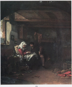 Een vrouw en een man in een interieur