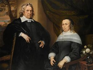 Dubbelportret van een man en een vrouw, genaamd Van Bueren