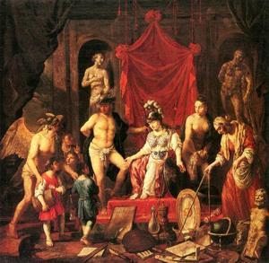Minerva als godin van de kunsten