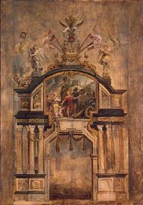 Voorzijde van de triomfboog van de Heilige Michael