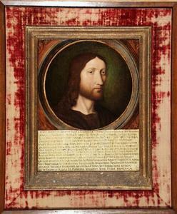 Portret van Frans I, koning van Frankrijk, als Christus