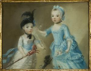 Dubbelportret van Anna Catharina Pichot (1767-1793) en een jonger broertje (of zusje)