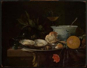 Ontbijtje met oesters en sinsaasappel