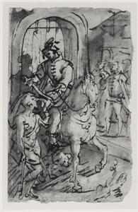 De H. Martinus deelt zijn mantel met een bedelaar