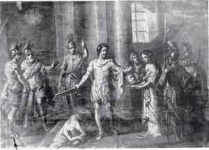 Salome ontvangt van de beul het hoofd van Johannes de Doper