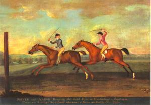 Wedstrijd tussen Aaron en Driver, op Maidenhead, augustus 1754