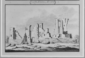 Ruïne van het Karthuizerklooster bij Delft