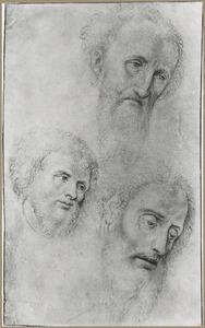Drie koppen van mannen
