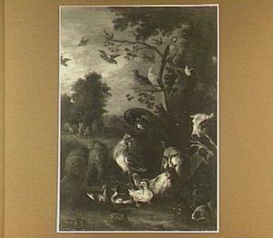 Adam en Eva in het paradijs met de Zondeval   (Genesis 2)