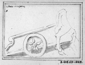 Wagen en achterhand van een paard