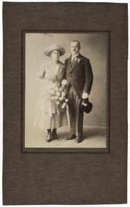 Portret van Johannes Franciscus Franken (1890-1952) en Pietertje Magdalena van Driel