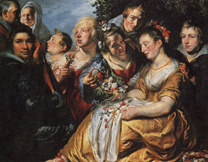 Groepsportret met Jacob Jordaens I (1593-1678), Catharina van Noort (1595-1659) en leden van de familie Van Noort