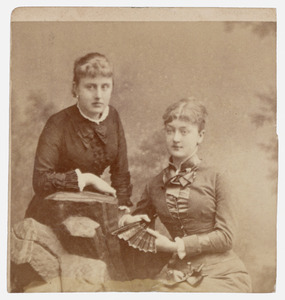 Portret van Catharina Louise Carolina van Zuylen van Nyevelt (1860-1950) en mevrouw A. Speelman