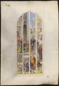 De onthoofding van Johannes de Doper (naar raam/carton 19)