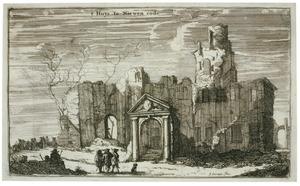 Kasteel Nijenrode na de verwoesting door Franse troepen in 1673