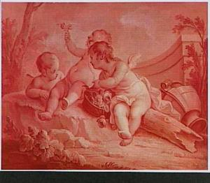 Allegorie op de Aarde, door putti uitgebeeld